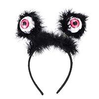 PIXNOR 6ピースハロウィン眼球ヘッドバンドプラスチックled点滅目ヘアバンド装飾帽子アクセサリー用パーティー好意仮装festivsl写真小道具