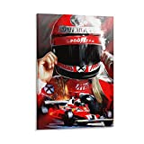 Niki Lauda F1 Leinwand-Kunst-Poster und Wandkunstdruck,