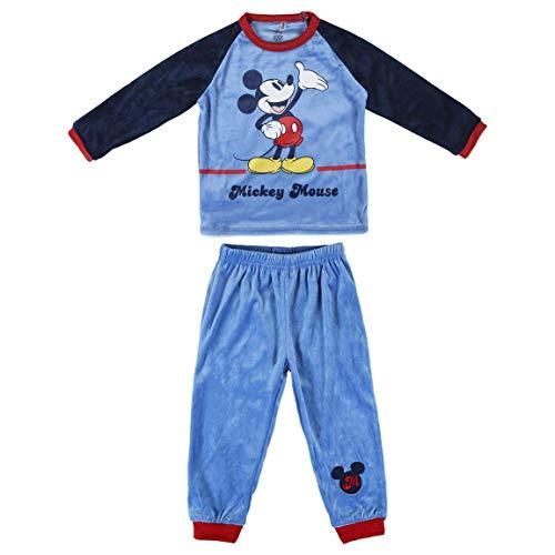 Artesania Cerda Pijama Largo Poly Mickey Conjuntos, Rojo (Rojo C06), 3 Años para Niños