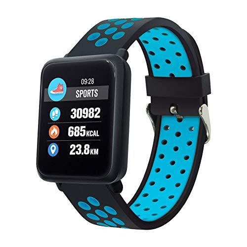 COLMI Astuto della vigilanza Degli Uomini di IP68 Attività impermeabile inseguitore di Fitness monitor di frequenza cardiaca di Sport delle donne di banda intelligente PK CF58 V11 (Blu)