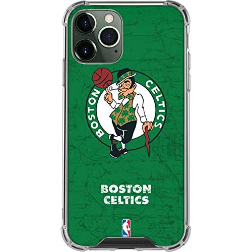 Skinit Clear Phone Case Compatible with iPhone 12 Pro Max - Officially Licensed NBA Boston Celtics Green Primary Logo Design
