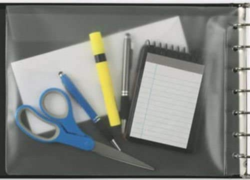 Vinyl Pocket for 7 Ring Check Binders, Clear, 13 x 9 1 2