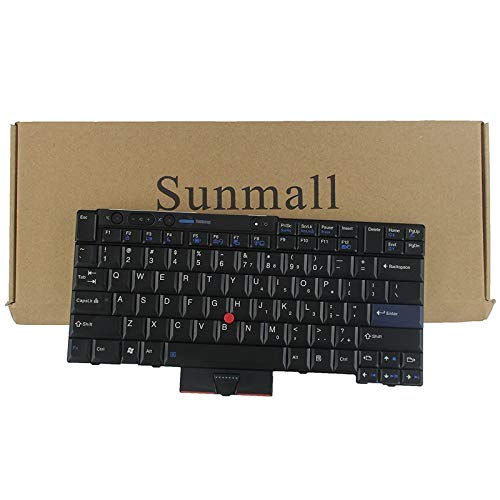 T410 Keyboard, SUNMALL New Laptop Keyboard with Pointer for Lenovo ThinkPad t410 t420 t510 t520 x220 t400 t420s US Layout Black