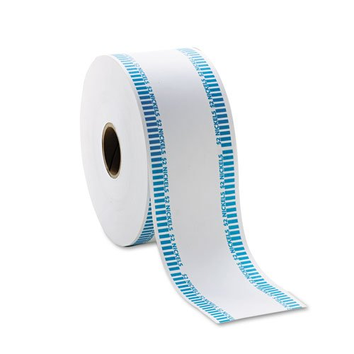 MMF Industries 2160651B08 Automatic Coin Rolls, Holds 40 Nickels,White/Blue, Approx. 1900/roll