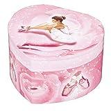 Trousselier - Ballerina - Musikschmuckdose - Spieluhr - Ideales Geschenk für junge Mädchen - Phosphoreszierend - Leuchtet im Dunkeln - Musik Schwanensee - Farbe rosa