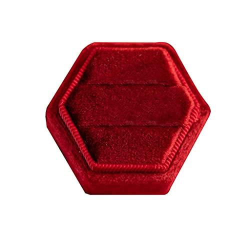 N\C Plato de baratija de Anillo de Diamantes, Organizador de Pendientes, Soporte de Madera para exhibición de Joyas, exhibición de Caja con Base de Bandeja de joyería LKWK