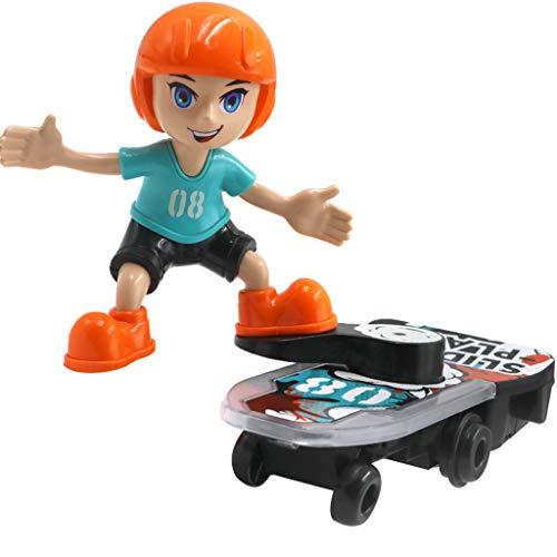 Fine Stunt Scooter Children's Toys Electric Car,360 Rotating Tumble Music Led Light Children's Cartoon Balance Bike Toys (Orange)