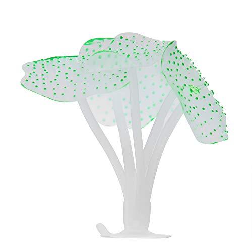 Aquarium simulatie silicone kunstmatige koraal glow decoratie planten ornament voor aquarium vis zoetwater aquarium, Groen