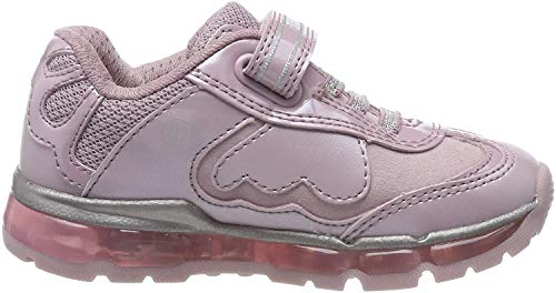 Geox Mädchen J Android Girl A Sneaker, Pink (Pink/Silver C0514), 35 EU