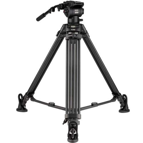 Magnus REX VT-5000 Professional Dual 2-Stage Fluid Drag Video Kopf & Stativ unterstützt bis zu 7,7 kg/fest