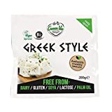 GreenVie Queso Feta mediterránea Griego Bloque vegano 200g (Pack de 4)