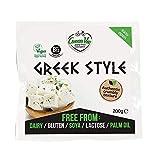 GreenVie Queso Feta mediterránea Griego Bloque vegano 200g (Pack de 1)