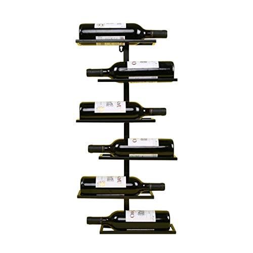 GMING - Portabottiglie Da Vino in Metallo, Portabottiglie da Parete Appeso A Muro Decorazione della Casa Design Bar Ristorante Decorazioni UVA Vino Vino Rack (Color : Black)