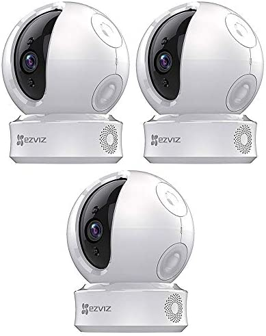 EZVIZ EZ2463B1WH C6C 720p Indoor Pan Tilt WiFi Security Camera 360 Degree Full Room Coverage product image