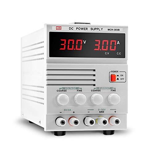 XY-Tester Precisa MCH-303B 30V3A Ajustable DC Power Mobile Pantalla Digital Teléfono Reparación de portátiles Fuente de alimentación Lineal Durable (Size : 220V)