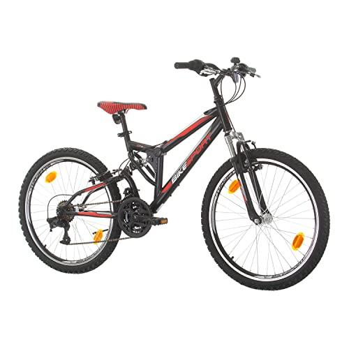 Bikesport Parallax 24' Bicicletta Biammortizzata Doppia Sospensione (Nero Neon Green)