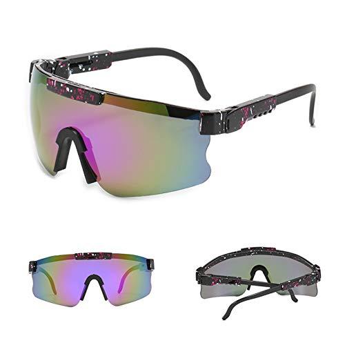 LKOPYUo Gafas de sol polarizadas Pit VipЁr para hombres, mujeres, ciclismo al aire libre, a prueba de viento, gafas de sol UV400, béisbol, pesca, golf, a prueba de viento con protección ajustable en l