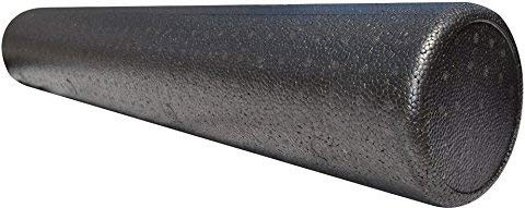 LuxFit Premium High Density Foam Roller 6 x 18 Round  Extra Firm With 1 Year Warranty black