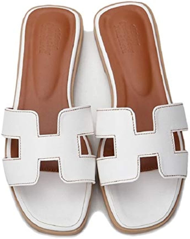 Wagonste - - Luxus Pantoffel Ausgeschnitten Sommer-Strand-Sandalen Fashion Frauendia im Freien Pantoffeln Innenbeleg ons Flip-Flop [4 Weiß]  extrem niedrige Preise