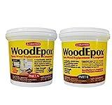 Abatron WoodEpox Epoxy Wood Replacement Compound, 2 Quart Kit, Part A & B