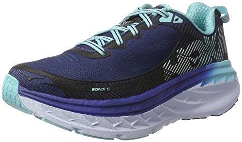 HOKA ONE ONE Women's Bondi 5 Running Shoe, Medieval Blue/Blue Radiance, 6.5 D - Wide