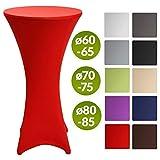 Beautissu Stretch Stehtisch Husse Stella für Bistrotisch Ø 80-85 cm Elegante Stretch-Husse Rot als Tisch-Überzug in div. Farben & Größen