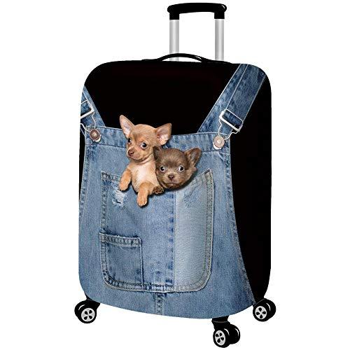 3D Koffer Schutzhülle, Trolley Staubschutzhülle Nachgemachter Cowboy Drucken Tier Stretchstoffe Verdicken Verschleißfest Gepäckabdeckung A-S(18-21 Inch)