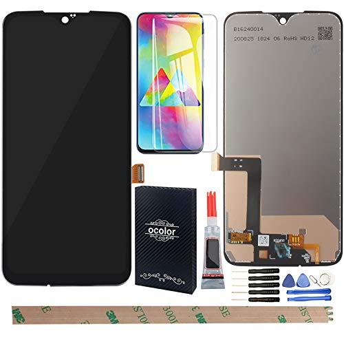 YHX-OU 6.2 para Motorola Moto G7 Plus XT1965-2 Pantalla LCD Juego de digitalizador táctil de repuesto con herramienta de instalación + 1 protector de pantalla (negro)