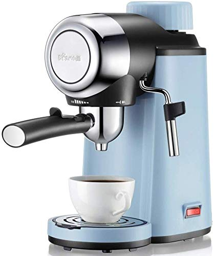 Jsmhh Café Italiana Máquina de teflón Liner Material Adecuado for los Trabajadores de Oficina Mini Máquina de café 5 Bar extracción a Alta presión y Espuma de Leche Combinación de un botón Diseño de