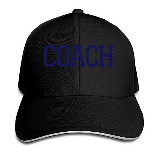 Hittings Coach Unisex 100% Cotton Adjustable Baseball Cap Natural One Size Black