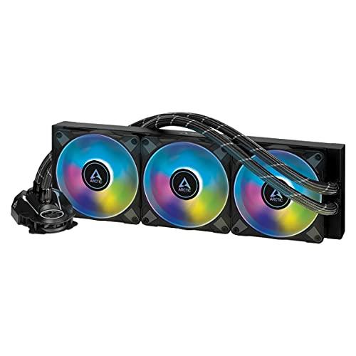 ARCTIC Liquid Freezer II 360 A-RGB - Multi-kompatibler All-in-One CPU AIO Wasserkühler mit A-RGB, kompatibel mit Intel und AMD, effiziente PWM-gesteuerte Pumpe, Lüftergeschwindigkeit: 200-1800 RPM