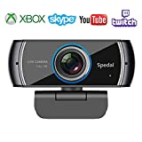 Cámara Web H.264 Full HD 1080p Webcam Live Streaming Computadora Portátil Cámara con Micrófono y para PC, Web CAM para Skype, Youtube Vídeo Radiodifusión Compatible con Windows, Mac