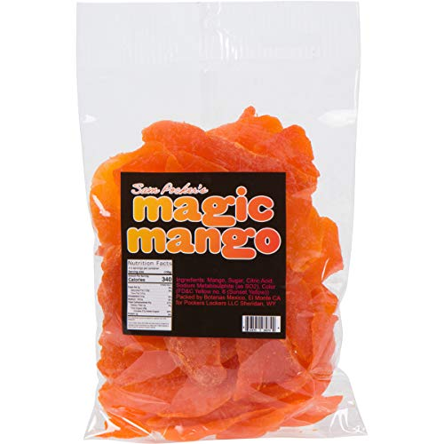 Sam Pocker's Magic Mango Dehydrated Fruit Snack - Thai Dried Fresh Sweet Mango Strips - Naturally Preserved Food Gift & Baking, Cooking Ingredients - Dry, Healthy Fruity Bites for Adults & Kids - 1lb