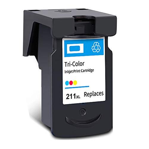 Cartucho de tinta PG-210XL CL-211XL, de alto rendimiento para cartuchos de tinta Canon Pixma IP2700, IP2702, MX320, MX330, MX410, MP230, MP480, negro y tricolor, 1 tricolor