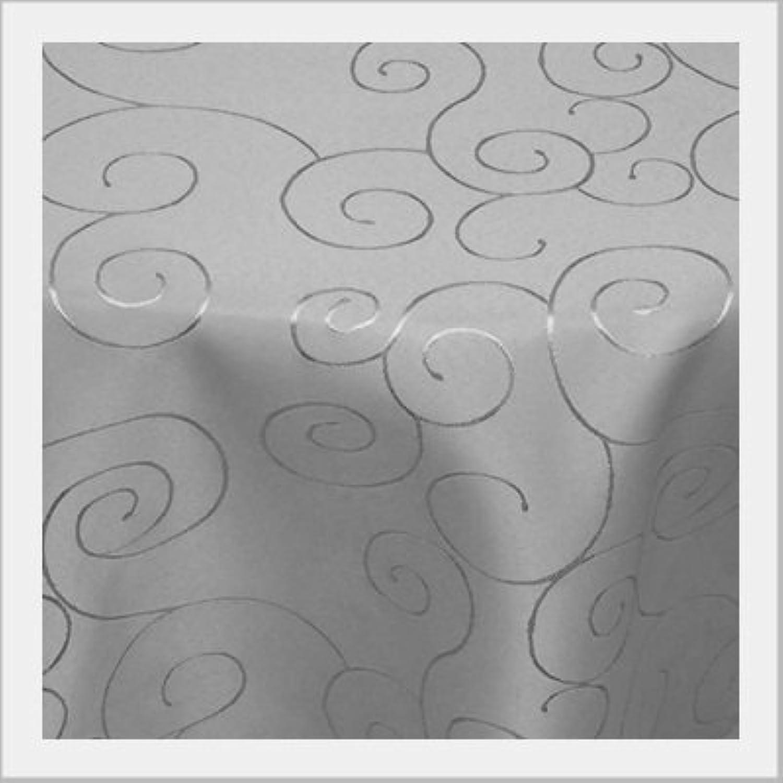 Damast Tischdecke Rund Maßanfertigung im Ornamentedesign Ornamentedesign Ornamentedesign 140cm Rund in Grau B01M7NY9ZF 0e5670