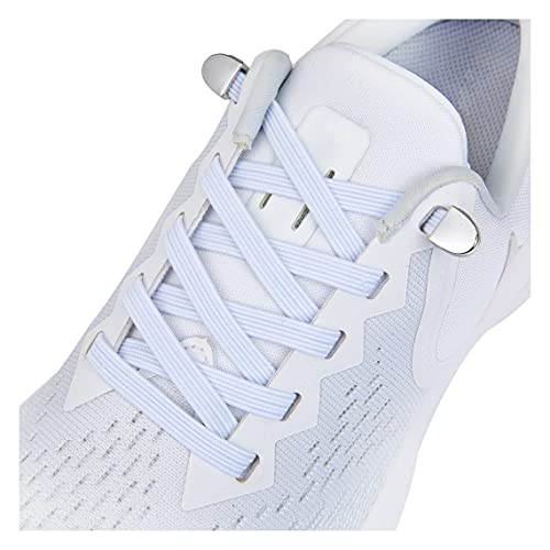 No Tie Shoe laces with Elastic Laces,Elastic Shoelaces for Adults and Kids White