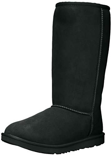 UGG Kids' Classic Tall II Boot, Black, 4 M US Big Kid