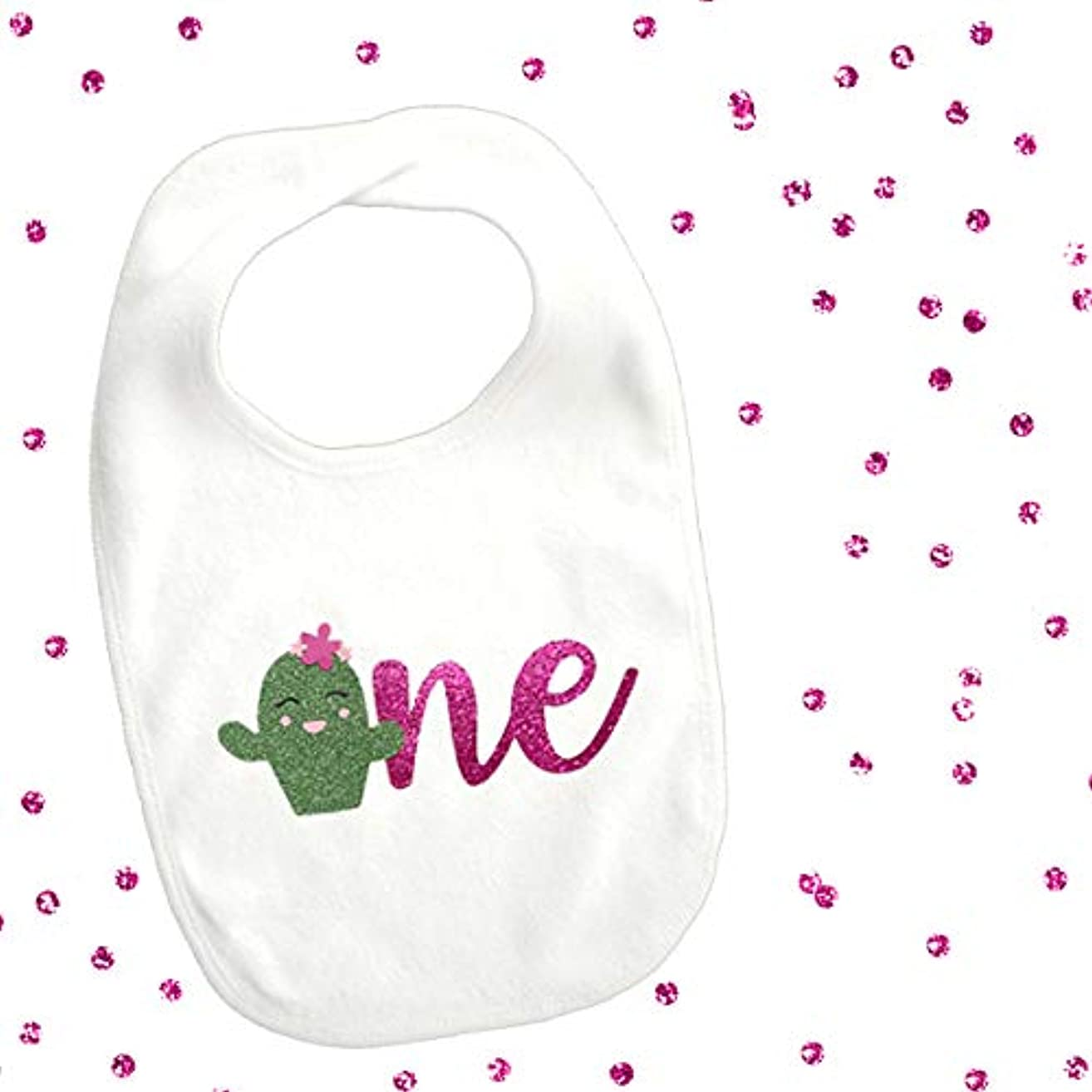 1 piece one cute flower cactus bib toddler girl for first birthday gift cake smash photo prop fiesta cinco de mayo party theme