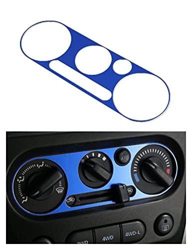 WMryp Recorte del Marco Pegatinas De Cubierta De Decoración De Panel De Interruptor De Aire Acondicionado De Coche De Aluminio para Suzuki para Jimny 2007+ (Color : Blue b)