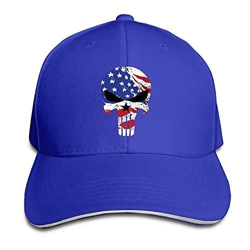 LIU888888 Sniper Chris Kyle Punisher American War Drama Flex Baseball Cap Black Royalblue,Hüte, Mützen & Caps