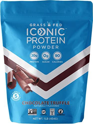 Iconic Protein Powder, Chocolate Truffle, 1 Lb (17 Serving) | Sugar Free, Low Carb Protein Shake | 20g Grass Fed Whey Protein & Casein | Lactose Free, Gluten Free, Kosher, Non-GMO | Keto Friendly 9