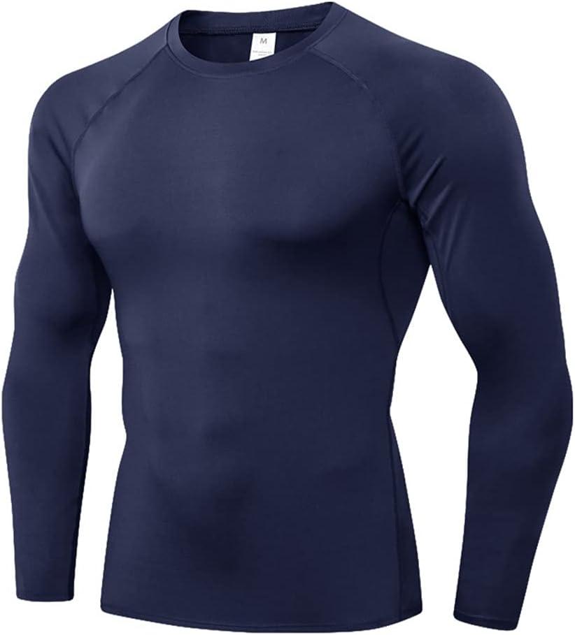 GPPZM Plus Size Autumn New Underwear Shirt Men O Neck Solid Color Baselayer Sport Tops Pajamas Sleepwear Winter Clothing (Color : C, Size : S Code)