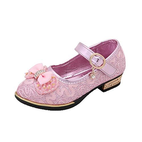 Zapatos de Princesa para niña Zapatos de Verano para niños Tacones Bajos...