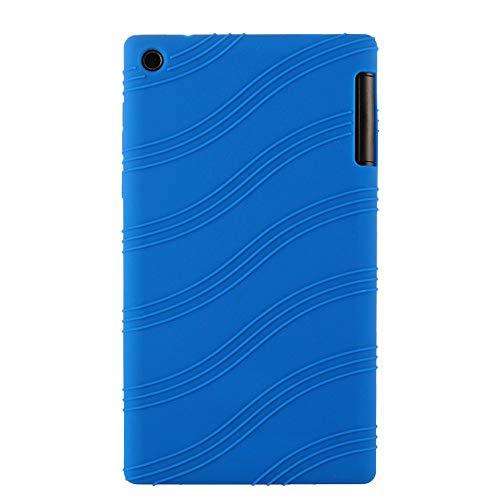 Oneyijun Azul Oscuro Suave Silicona Piel Bolsa Proteccion Caso Protector Cubrir Funda para Lenovo Tab 2 A7-30TC 7.0 Pulgadas Tableta