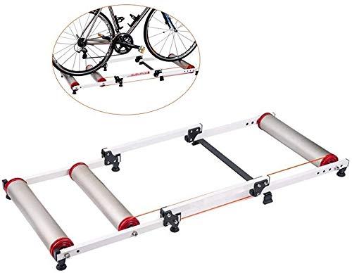 YZPJSQ Réglable intérieur Fitness vélo Parabolique Rouleau vélo Formateur Exercise Fitness Cadre for Stationary VTT & Route