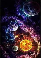 QMGLBG 5Dダイヤモンドペインティング 魔法の星空の風景ダイヤモンド絵画ラインストーン刺繡工芸品家の壁の装飾理想的な贈り物30*40cm