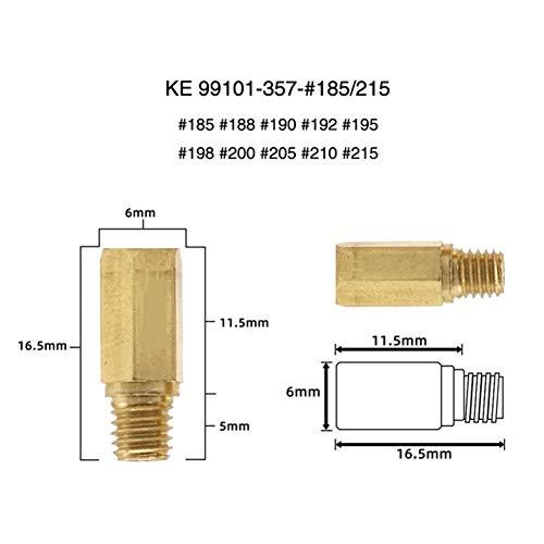 Stabile Eigenschaften 10pcs / Set # 60- # 215 frei wählen Vergaser Hauptdüse Kit for PWK Keihin FCR KOSO OKO PD PE Motorrad Injektoren Düse Qualitätsmaterialien (Color : A-06)