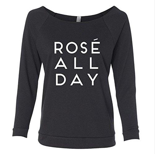 Rose All Day 3/4 Raglan Sleeves Lightweight Sweatshirt for Women