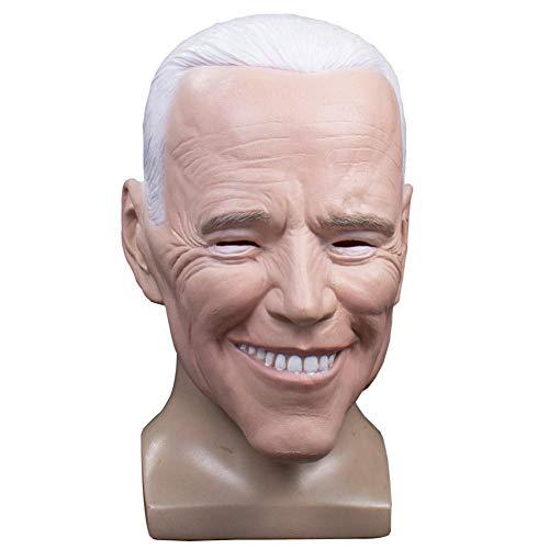 Joe Biden Maske Halloween Latex Maske Promi Masken Biden Kopf Masken Kostüm Cosplay Party Requisiten Für Halloween Party Dress Up, Erwachsene Kopfgröße: 21.65-24.41in