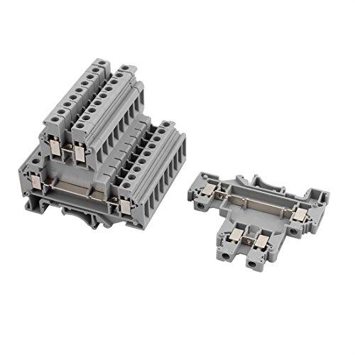 Aexit 10Pcs UKKB5 Bloque de terminales de doble nivel para